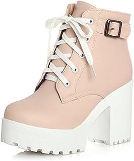 88639fbca4bf27 Amazon.fr : talon - Rose / Bottes et bottines / Chaussures femme ...