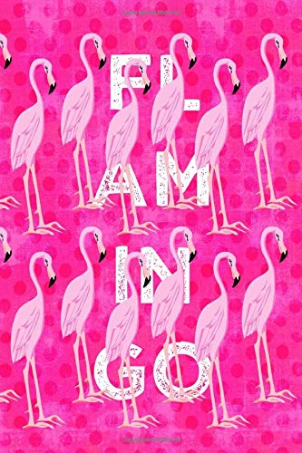 FLAMINGO: 6x9 blank lined journal diary planner for fans of Flamingoes!