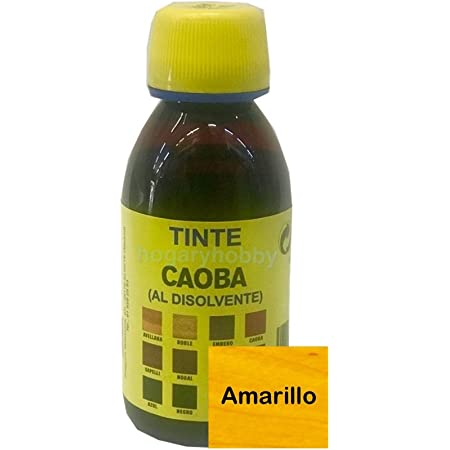 Promade - Tinte al disolvente para teñir la madera. Tonos de madera y colores vivos y modernos (125 ml, Amarillo)