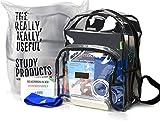 The Friendly Student - Durchsichtiger Rucksack für Gesetzestexte - 24L Volumen - Mit der Wasserdichten Bib Tasche kein nerviges Umladen in der Bib!