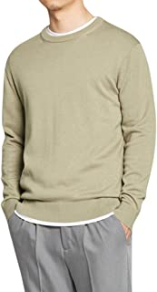 Sliktaa Mens Thin Pullover Sweatshirts Long Sleeve Casual Slim Fit Cotton 6 Colors Tops Polo T-Shirts