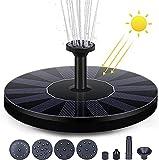 Karsa Fuente solar 2021, actualización para jardín, con 6 efectos, bomba de agua solar flotante, bomba de agua para estanque de jardín, fuente para pájaros o peces.