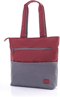 حقيبة كتف بريكستون رمادي/أحمر