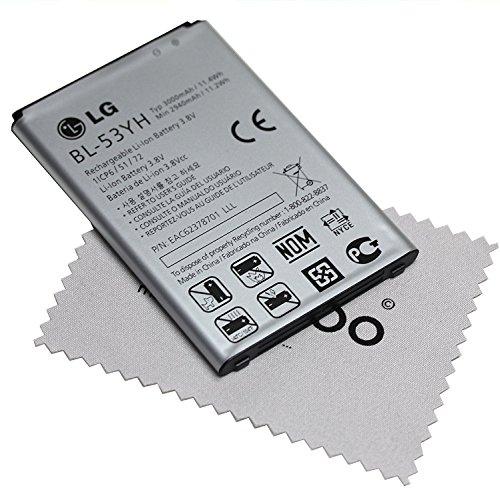 Bateria para LG original para LG G3 BL-53YH EAC62378701 pantalla paño de limpieza