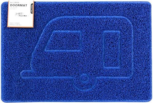 Nicoman Felpudo para Caravana con Forma de Relieve (Apto para Interiores o Exteriores, 90 x 60 cm), Color Negro