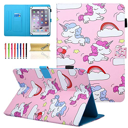 Dteck Universal 7 Inch Tablet Case Wallet Case for Samsung Galaxy Tab A 7.0/ Tab 4 7.0/ Tab 3 Lite 7.0/ fire 7/ Mediapad T3 7.0/ KOBO Aura H2O/ RCA/Google Nexus and More 6.0'-7.0' inch Tablet