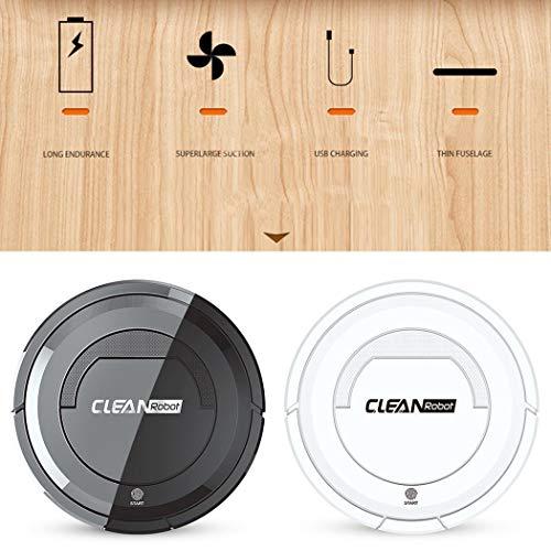 tiowea Smart Home-Kehrroboter Touch-Typ EIN-Knopf-Kehrmaschine starten Bürststaubsauger