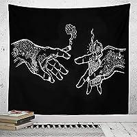 新しい壁のタペストリー黒と白の星寝室の装飾タペストリータペストリーアート抽象的な背景布-GT17-8_230 * 150