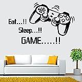 Topgrowth Adesivi Murali Bambini Camera da Letto per Ragazzi Stickers Murali Lettera DIY Eat Sleep Game