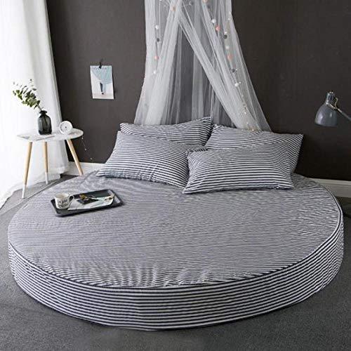 HPPSLT Protector de colchón, con Aloe Vera, (Todas Las Medidas) Faldón de Cama Redondo de algodón Redondo -22_2.2m