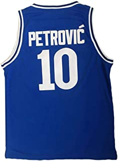 Custom Drazen Petrovic #10 Croatia Embroidered Name Number Basketball Jersey