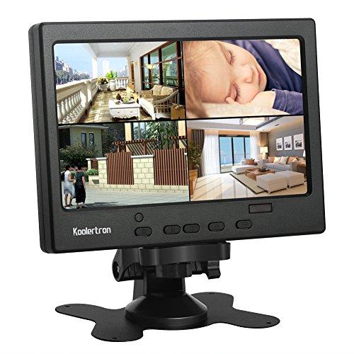 7 Zoll Monitor 1024 * 600 IPS Tragbarer LCD HD Bildschirm Monitor mit VGA HDMI Audio Ports für DSLR, Haus Sicherheit, CCTV Kamera, PC Monitor