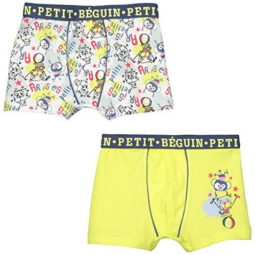 Petit Béguin - Lot de 2 boxers garçon Petit Artiste - Couleurs - Multicolore, Taille - 2/3 ans (92/98 cm)