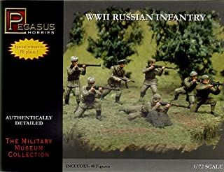 Russian Infantry Summer/Winter Dress WWII (40) (Special Release, Molded in Polyethylene) 1-72 Pegasus