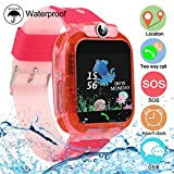 Smartwatch Kinder Tracker Uhr Waterproof SOS Kids Smart Watch Voice Phone Chat für 3-12 Jahre alte...