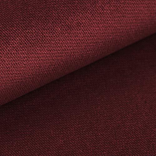 NOVELY® Passau | 1 lfm | samtig weicher Chenille Möbelstoff in 26 Farben | Polsterstoff (20 Bordeaux Rot)