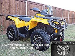 2012-2019 Can-Am Outlander G2 450/500/570/650/800/850/1000 & Max/DPS/XT/XT-P/Limited-6x6 Warrior Riser Snorkel kit With Red LED Snorkel Light SYA 0023R