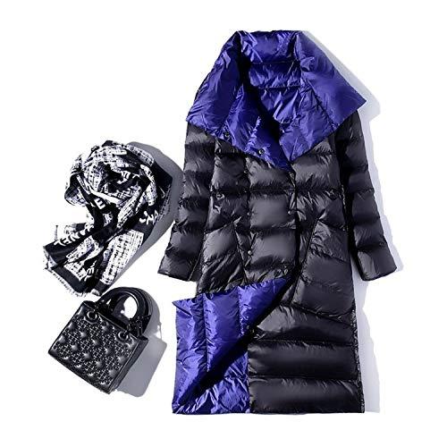 Goods-Store-uk Winter Coltrui Witte Eend Down Jas Dubbele Borst Warm Sneeuw Jas