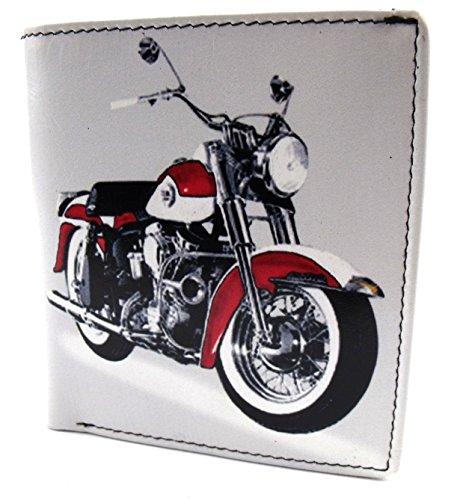 The Leather Emporium - Portefeuille Cuir Retro - Classique Harley Moto 7 543