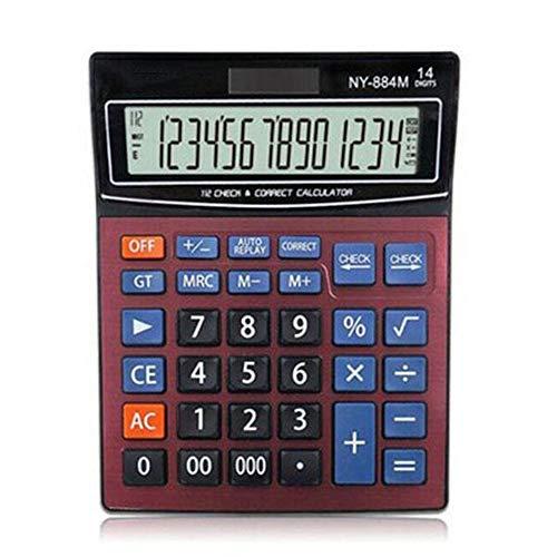 MVLJ Calculatrice Calculatrice Solaire en Rouge...
