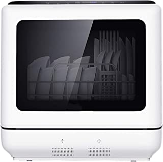 GuoEY Lavavajillas de sobremesa desinfectante y Secado automático para el hogar automático, lavavajillas Integrado, Temporizador de 29 Minutos, 900 W, Alta Temperatura