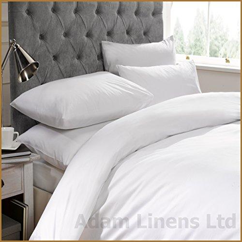 Adamlinens 100% Egyptian Cotton 200 TC Duvet cover & Pillowcase (White) Single