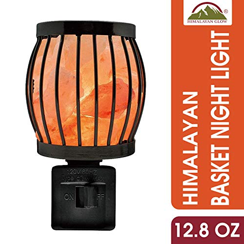 Himalayan Glow 1804 Natural Salt Lamp Wall Plug in, 360 Rotatable Framed Night Light by WBM