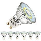 EACLL Bombillas LED GU10 6000K Blanco Frio 5W Fuente de Luz 495 Lúmenes Equivalente 50W Halógena. AC 230V Sin Parpadeo Focos, 120 ° Spotlight, Luz Diurna Blanca Fría Lámpara Reflectoras, 6 Pack