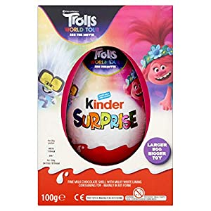 kinder surprise plus chocolate egg, large toy, 100 g Kinder Surprise Plus Chocolate Egg, Large Toy, 100 g 51diYqPwjTL