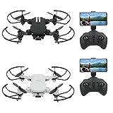 Mini Drone Plegable con Cámara de Alta Definición 480P/1080P/4K Professional WiFi RC Drone Quadcopter(1080P-Negro)