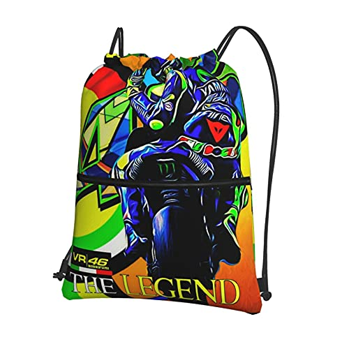 Valentino Rossi VR46 - Mochila unisex con cordón, bolsa de deporte, con cordón, bolsa de deporte, bolsa de mano, bolsa de deporte, mochila de gimnasio