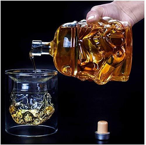 GAOTTINGSD Botellero Decantadores de Whisky de garrafa for espíritus Botella de Cristal...
