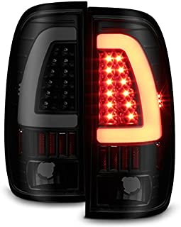For Black Smoked 1997-2003 Ford F150 99-07 F250 F350 LED Tube Tail Lights Lamps Pair Left and Right