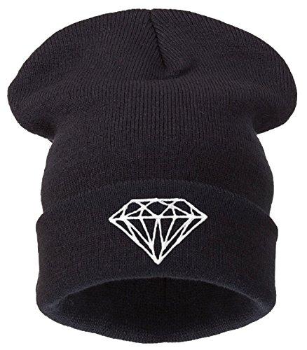 Gorro 4sold (TM) de invierno para hombre y mujer, estilo «bad hair day», color negro Negro diamond black Talla única