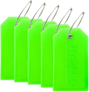 BlueCosto 5X Luggage Tags Suitcase Tag Travel Bag Labels w/Privacy Cover - Green