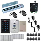 Visionis FPC-5338 One Door Access Control System Outswing Door 600lbs Magnetic Lock with VIS-3002 Indoor Digital RFID Keypad Entry Security with Wireless Remote EM MFR Standalone 2000 Users Kit