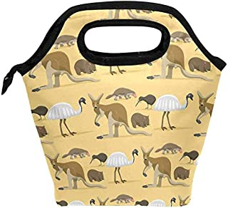 Insulated Lunch Tote Bag Australia Wild Animals Cooler Picnic Lunch Box for Women Boys Girls