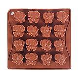 Yunko 16 Cavity Elephant Silicone Chocolate...
