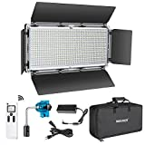 Neewer Avanzado 2,4G 960 LED Luz Video LED con Barndoor Panel LED Bicolor Regulable con Pantalla LCD y Control Remoto Inalámbrico 2,4G para Fotografía de Producto Vertical Grabación Video en Estudio