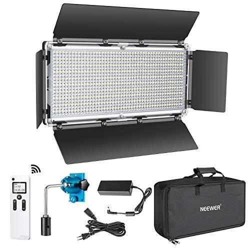 Neewer Avanzado 2,4G 960 LED Luz Video LED con Barndoor Panel LED Bicolor Regulable con Pantalla LCD y Control Remoto Inalámbrico 2,4G para Fotografía de Producto Vertical Grabación Video en Estudio