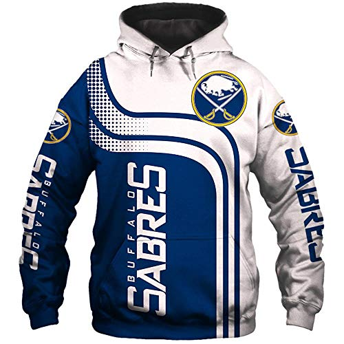 LIULL Sport Hoodies Pullover Buffalo Sabres NHL 3D Digital Sweatshirt Baseball Uniform Teens Jacke A-XXXL