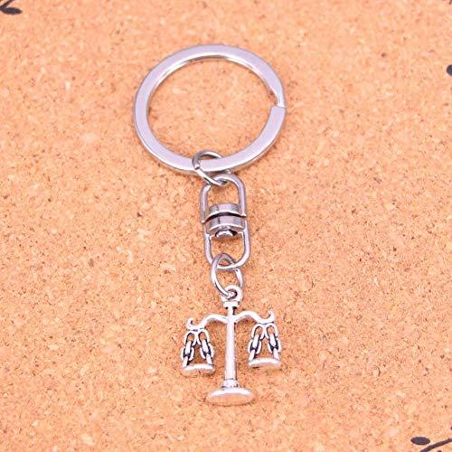 DdA8yonH Sleutelhanger, Zilver Kleur Metalen Weegschaal Van Justitie Sleutelhangers Accessoire & Verchroomde Sleutelhangers