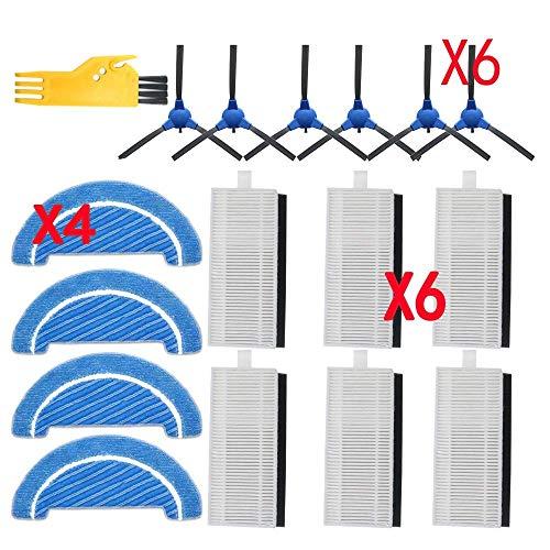 Kit de accesorios de cepillo lateral robot Hepa filtro trapeador para Cecotec Conga Excellence 1090 Robot Aspiradora Piezas Kit de repuesto (tamaño: caqui oscuro) Reemplazo (tamaño : caqui oscuro)