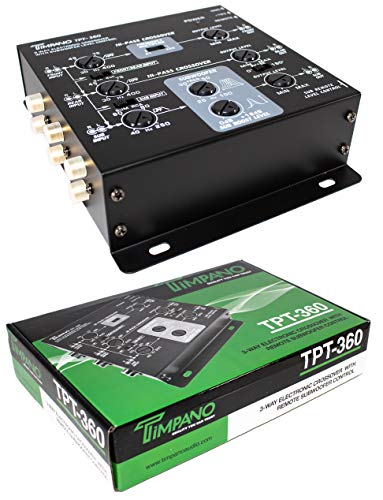 3-Way Electronic Crossover Remote Subwoofer Control Equalizer Timpano