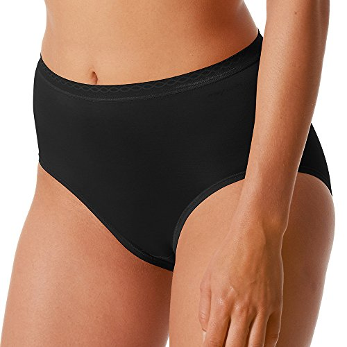Mey 2er Pack Damen Taillenslip – Größe 42 – Schwarz – Slip ohne Seitennähte – Pflegeleichte Damen-Pants – Damen Unterhose – 89201 Lights