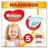 Huggies Ultra Comfort Pañales Talla 5 (11-25 Kg) - 126 Pañales