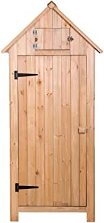 Wooden Garden Shed Tool,Fir wood Arrow Shed with Single Door Wooden Garden Shed Wooden Lockers Wood Color