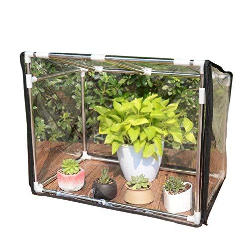 Carpas de jardín de invernadero, carpas de soporte de flores para plantas con persianas enrollables y puertas correderas, invernaderos de cobertizo de flores a prueba de lluvia y anticongelant