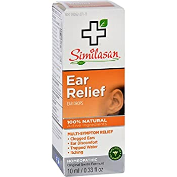Similasan Ear Relief Ear Drops - Natural - Clogged Ear - Ear Discomfort - Trapped Water - Itching - 10 ml  Pack of 2