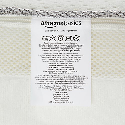 Colchón extra confort de muelles Amazon Basics - 6